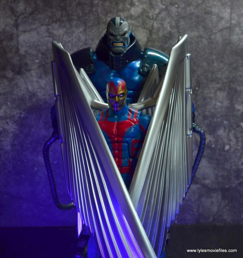 marvel legends archangel figure review - guarding apocalypse