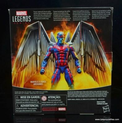 marvel legends archangel figure review - package rear