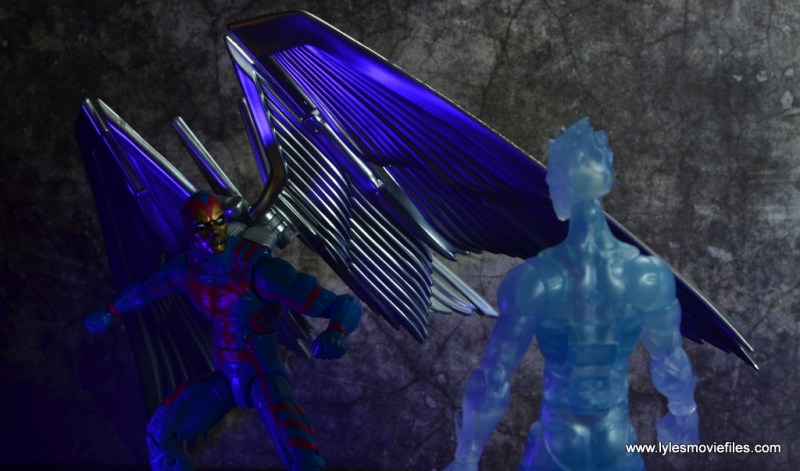 marvel legends archangel figure review - slicing through iceman decoy