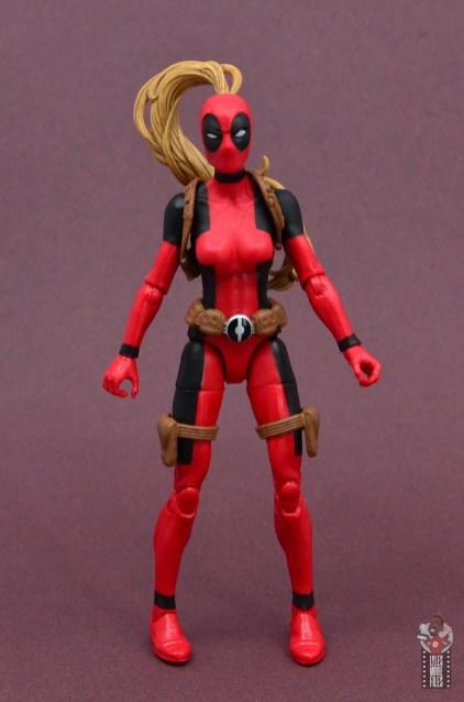 marvel legends lady deadpool figure review - front