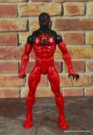 marvel legends scarlet spider figure review - front