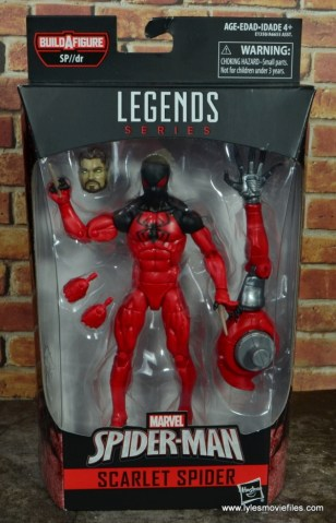 marvel legends scarlet spider figure review - package front