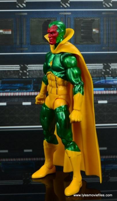 marvel legends vision figure review - left side