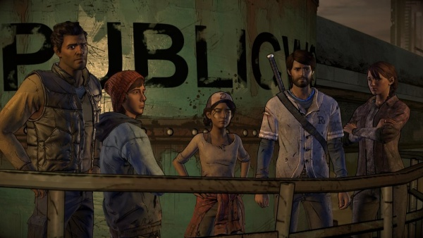 the walking dead a new frontier review - david, gabe, clem, javi and kate