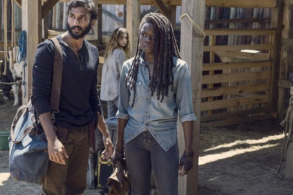 the walking dead evolution review -siddiq and michonne