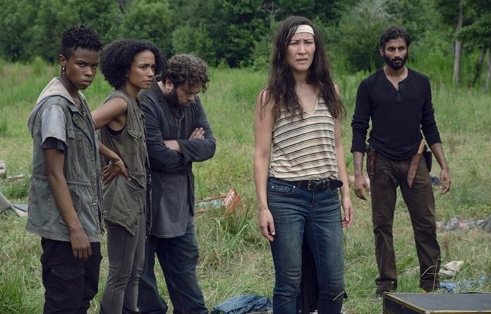 the-walking-dead-stradivarius - kelly, connie, luke, yumiko and siddiq