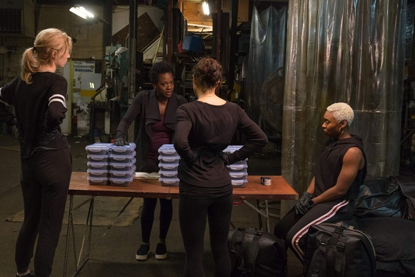 widows movie review - elizabeth debicki, michelle rodriguez, viola davis and cynthia erivo