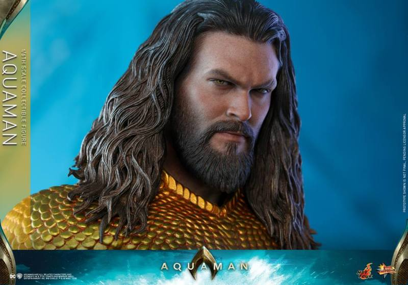 hot toys aquaman figure -head detail