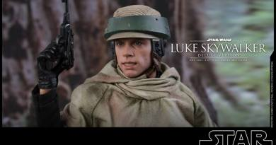 hot toys deluxe return of the jedi luke skywalker figure - endor gear