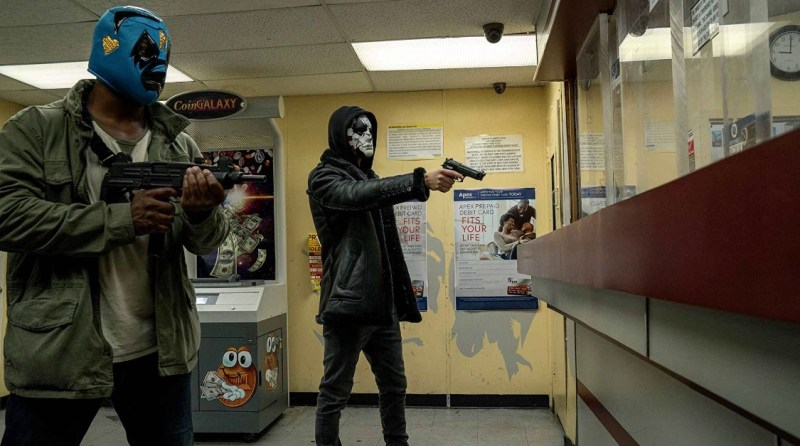 The punisher One Bad Day review - billy and crew robbing