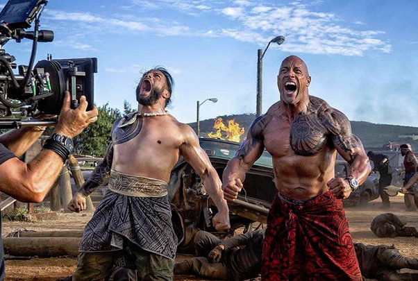 WWE star Roman Reigns tag teams with Dwayne Johnson in Hobbs and Shaw