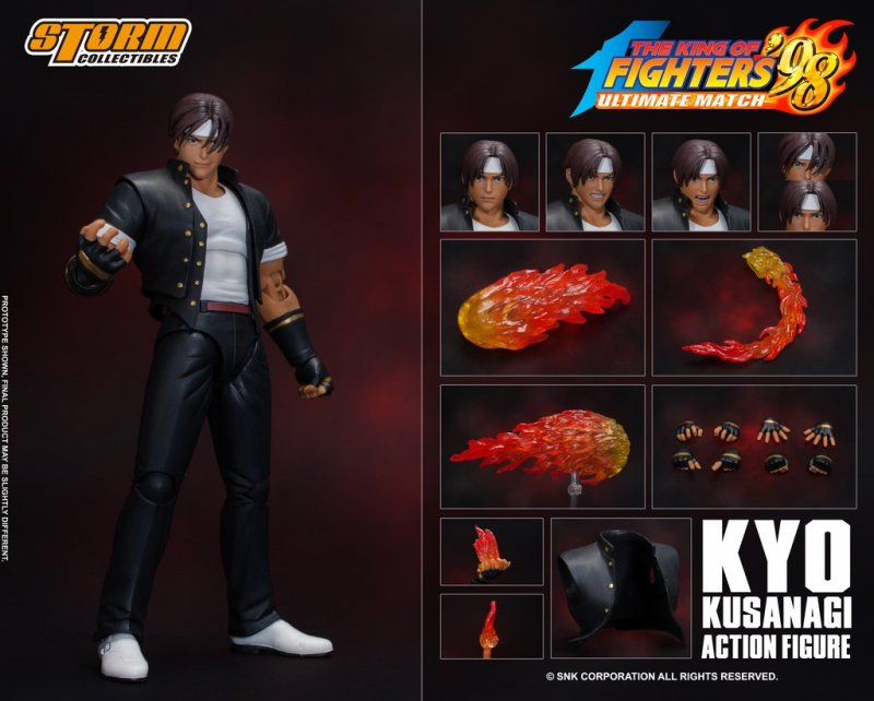 storm collectibles kyo kusanagi figure - collage