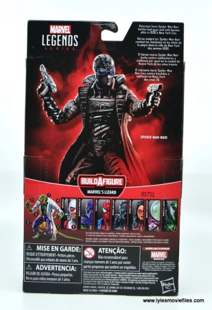 Marvel Legends Spider-Man Noir figure review - package rear