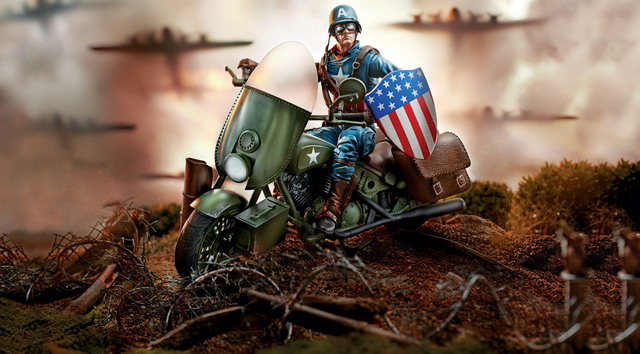 Marvel Legends Vehichles 6-Inch Captain America WWII Figure and Vehicle oop