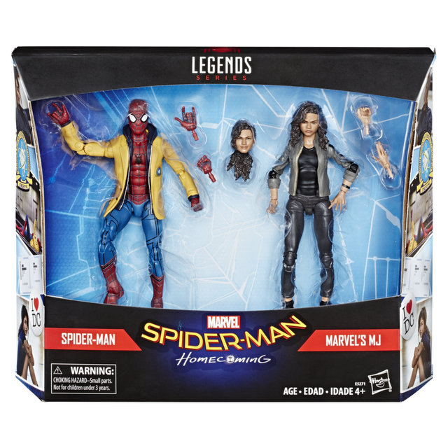 Marvel Spider-Man Homcoming Legends Series 6-Inch Spider-Man and MJ Figures in pck