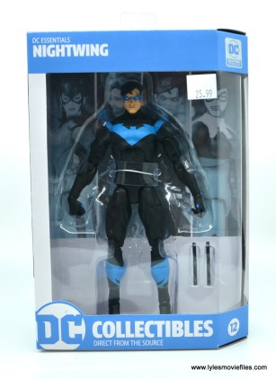 dc essentials nightwing figure review - package front