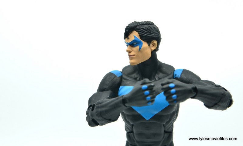 dc essentials nightwing figure review - side shot