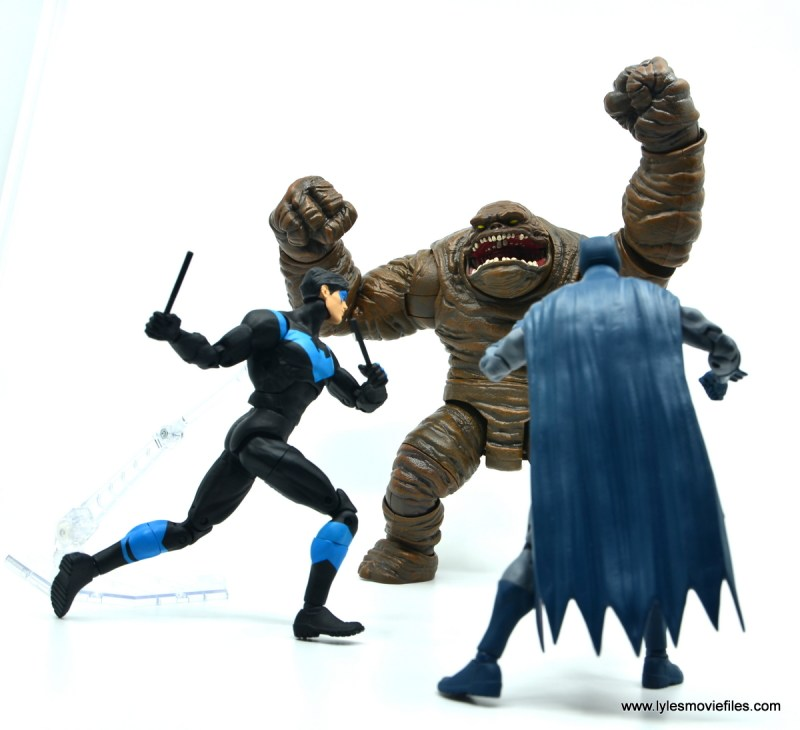 dc essentials nightwing figure review - vs clayface with batman