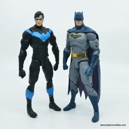 dc essentials nightwing figure review -with batman