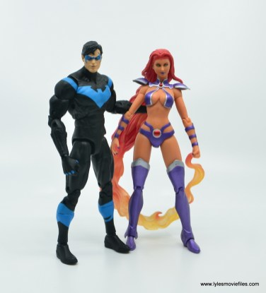 dc essentials nightwing figure review - with starfire