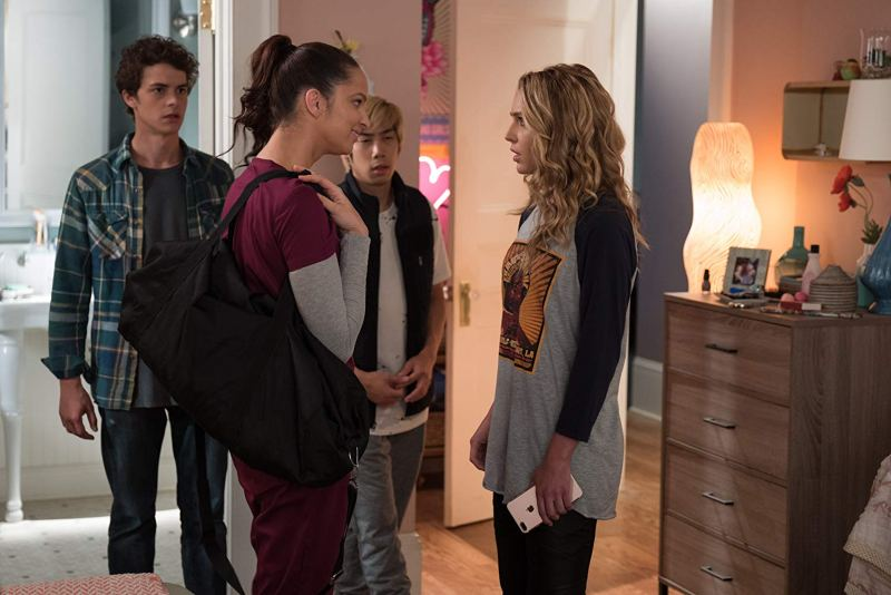 happy death day 2u review -israel broussard, ruby modine, phi vu and jessica rothe