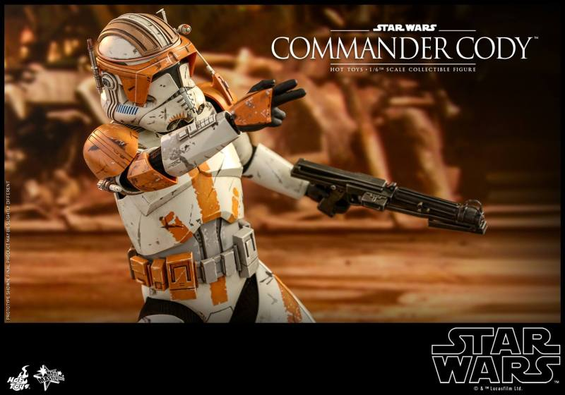 hot toys star wars revenge of the sith commander cody figure -side shot