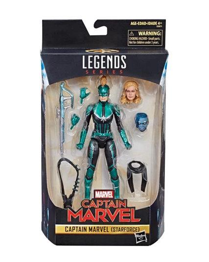 marvel legends captain marvel in package