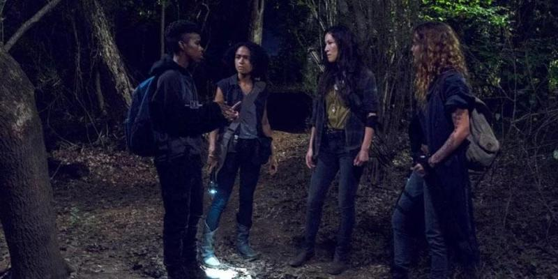 the walking dead omega review - kelly, connie, magna and yumiko