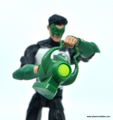 DC Multiverse Kyle Rayner figure review - lantern close up