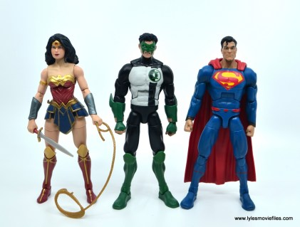 DC Multiverse Kyle Rayner figure review - scale with Multiverse Wonder Woman and Superman