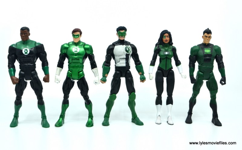 DC Multiverse Kyle Rayner figure review - with DC Classics John Stewart, Hal Jordan, Sodom Yat and Multiverse Jessica Cruz