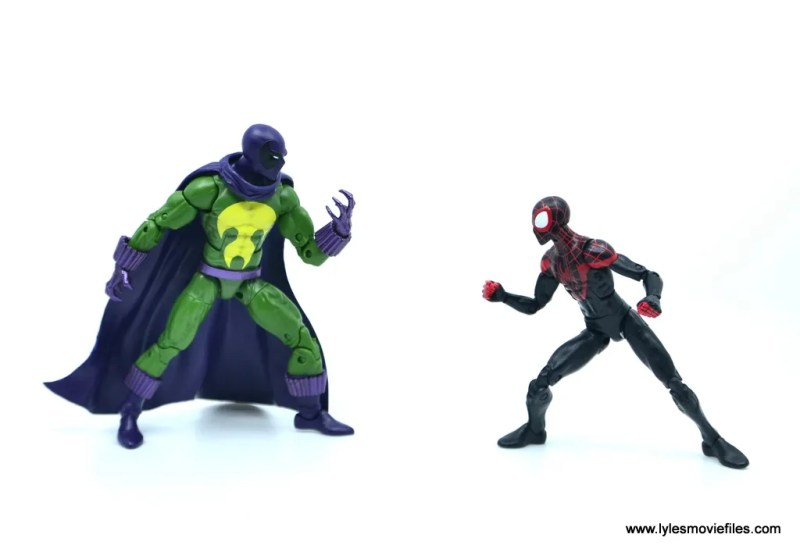 Marvel Legends Prowler figure review - face off with Miles Morales Spider-Man