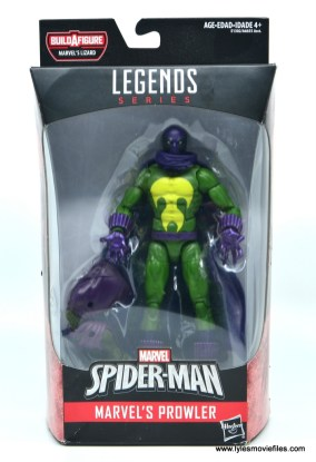 Marvel Legends Prowler figure review - package front