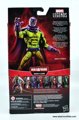 Marvel Legends Prowler figure review - package rear