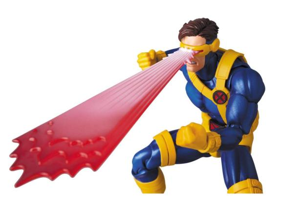 Marvel MAFEX Cyclops figure - wide optic blast