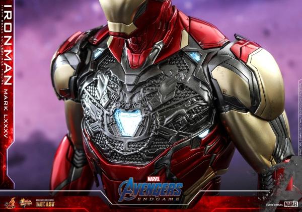hot toys avengers endgame iron man mark LXXXV figure -chestplate off