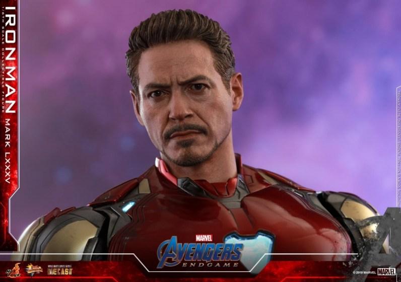 hot toys avengers endgame iron man mark LXXXV figure -head detail