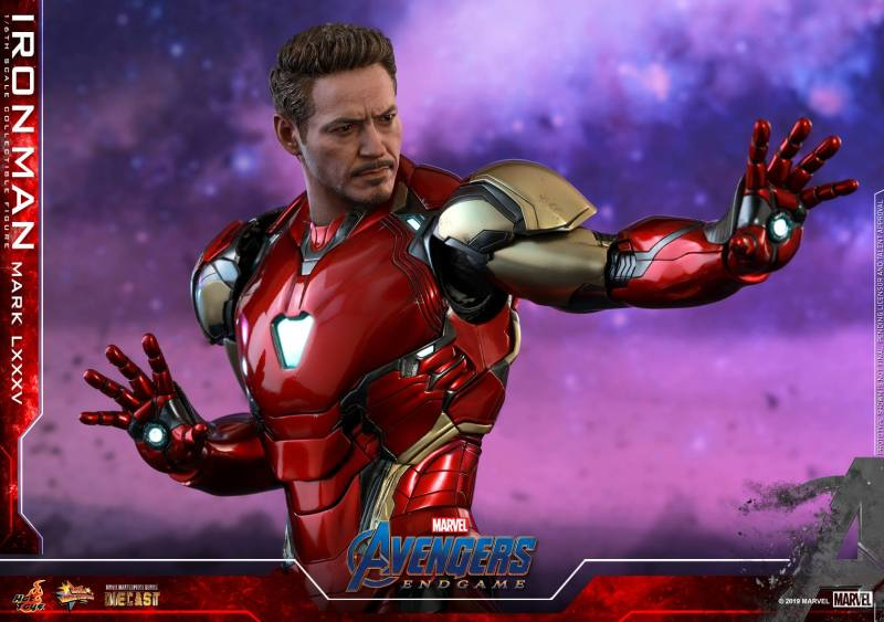 hot toys avengers endgame iron man mark LXXXV figure - head detail
