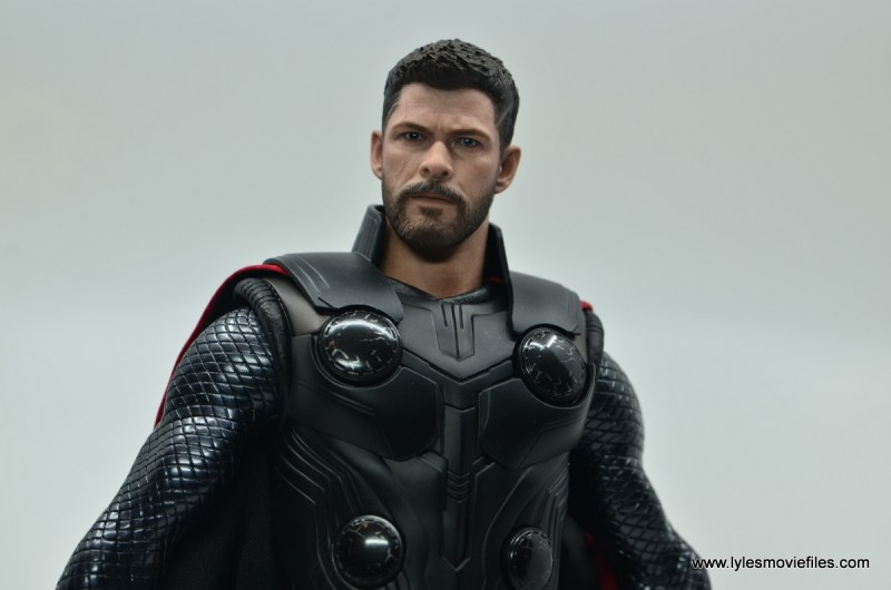 hot toys avengers infinity war thor figure review - looking up wide shot
