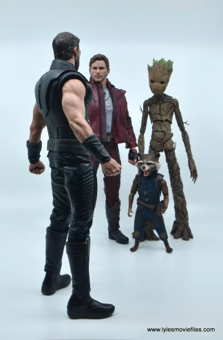 hot toys avengers infinity war thor figure review - meeting star-lord, rocket and groot