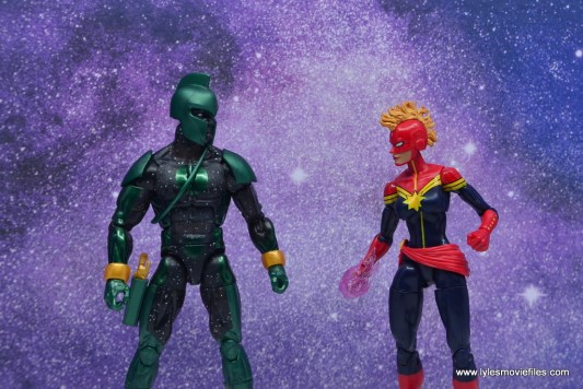 marvel legends genis-vell figure review - face off with captain marvel