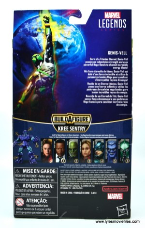 marvel legends genis-vell figure review - package rear