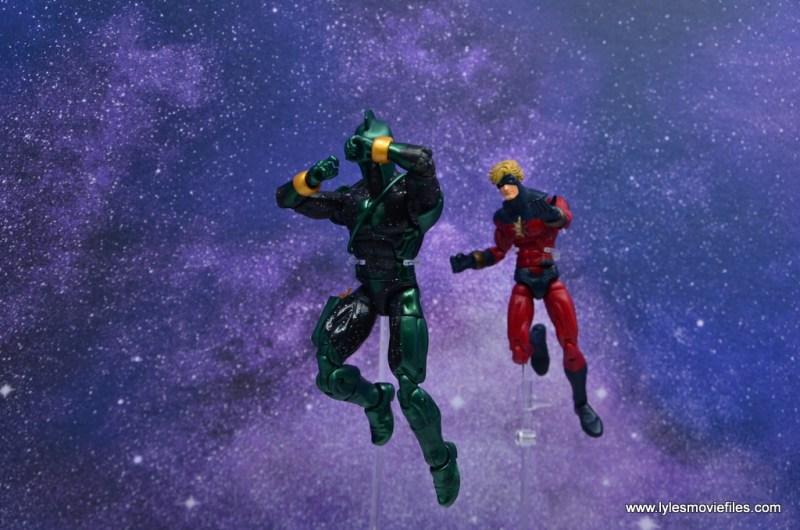marvel legends genis-vell figure review - running away from captain mar-vell