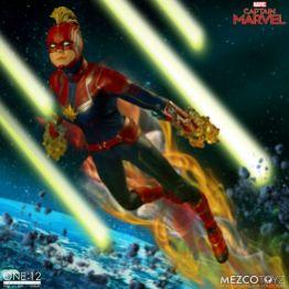 mezco one 12 captain marvel figure -soaring through space