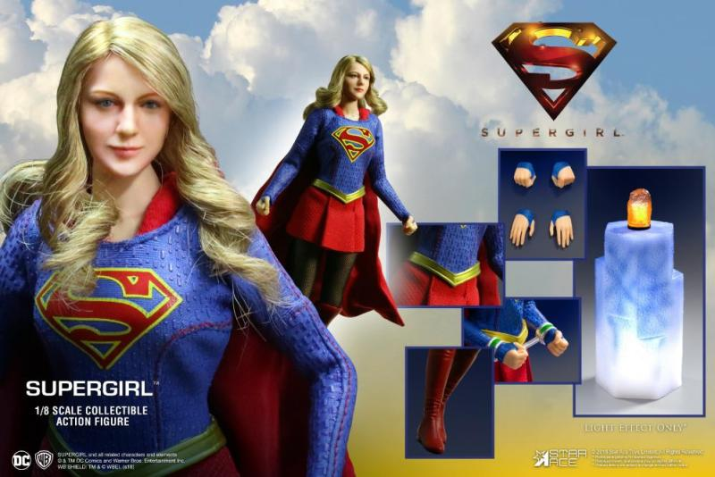 supergirl real master series figures -collage