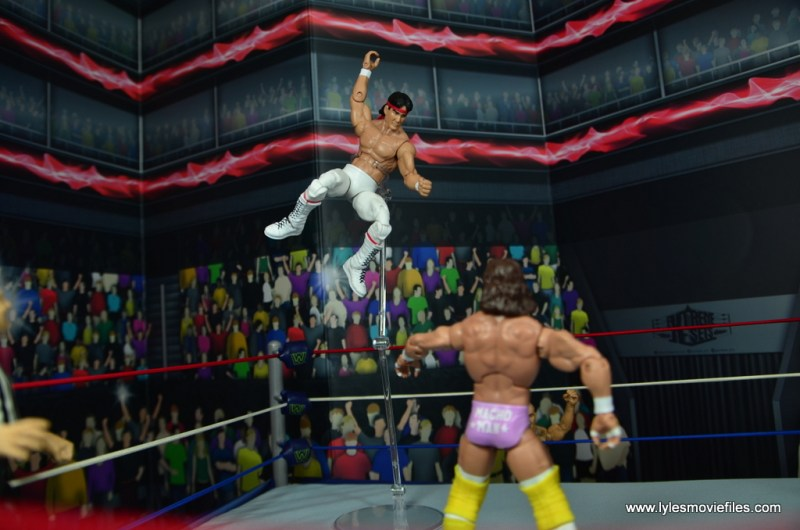 wwe elite flashback ricky steamboat figure review - chop from the top