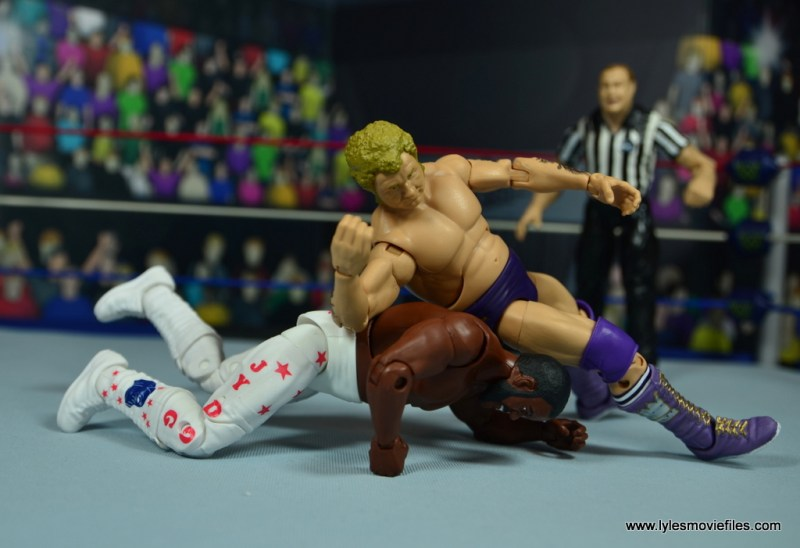 wwe elite king harley race figure review - elbow to the back