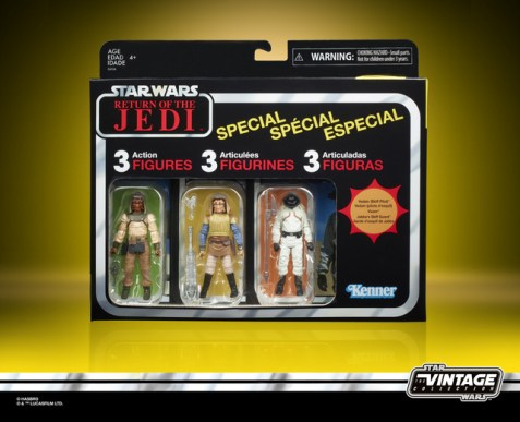STAR WARS THE VINTAGE COLLECTION TATOOINE SKIFF 3.75-INCH 3-PACK (in pck 1)