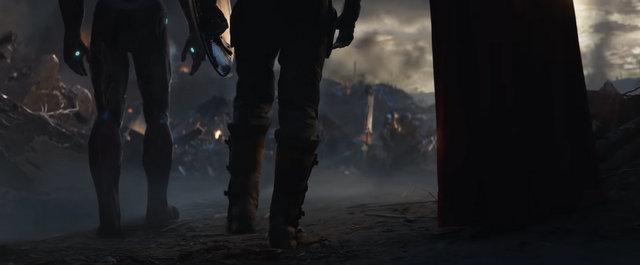 avengers endgame - iron man, captain america and thor confront thanos
