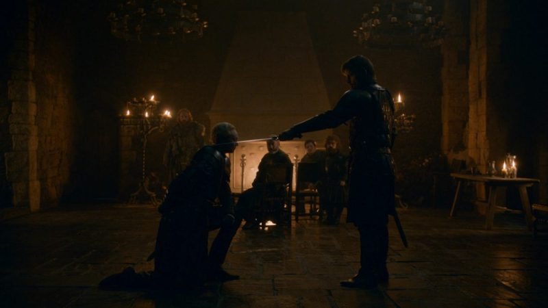 game of thrones - a knight of the seven kingdoms review -jaime knighting brienne